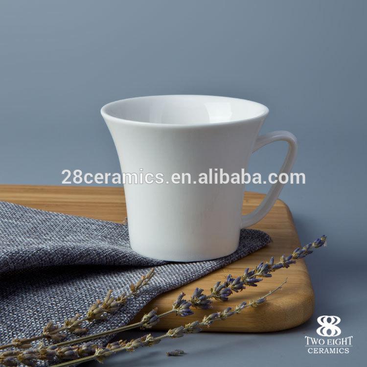 170ml cup with sauce, Free sample eco ware white porcelain coffee mug
