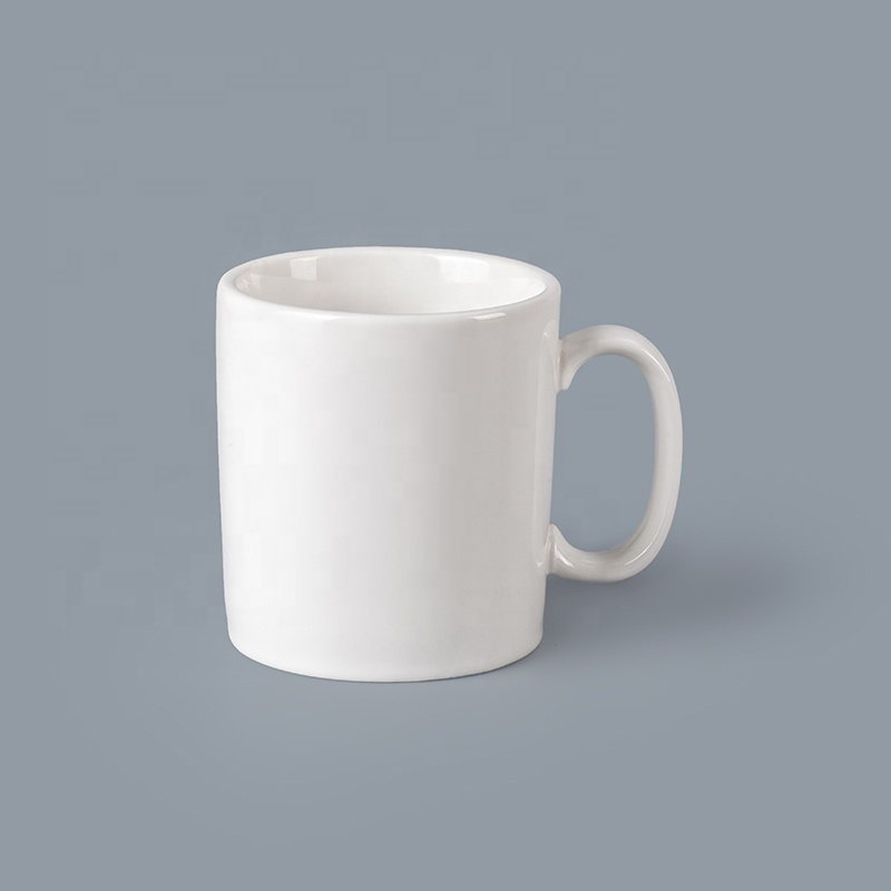 Ceramic TablewareWhite 284ml Straight Coffee Mug, Restaurant Quality Tableware Ceramic Mug Chaozhou^