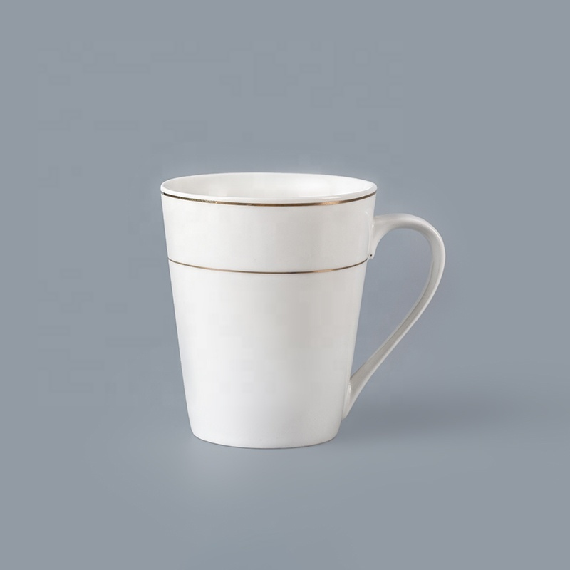 Cheap Bulk Crockery Porcelain 260ml Coffee Mugs For Restaurant, Crockery Restaurant Mug Cafe*