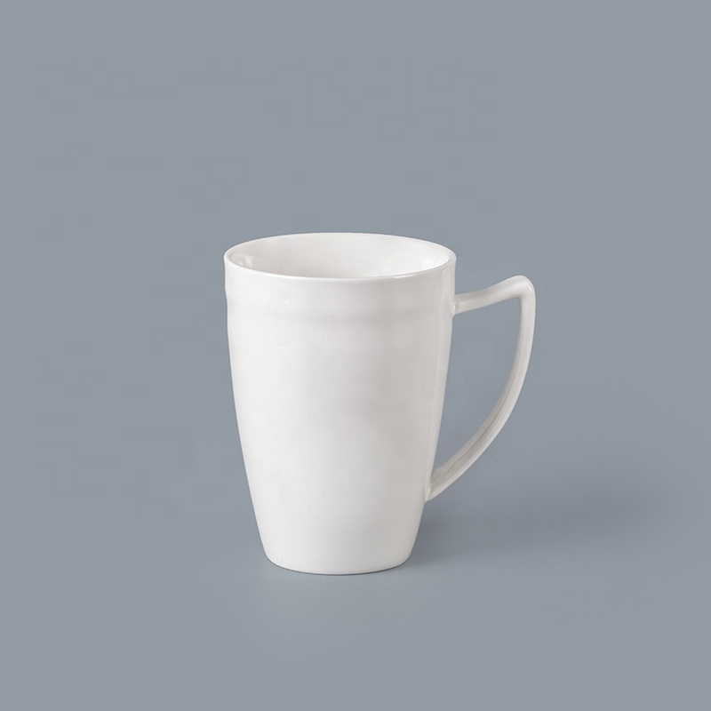 New Product White PorcelainRestaurant Hotel 410ml Mugs Wholesale, Hotel Crockery Ceramic Mug Chaozhou*