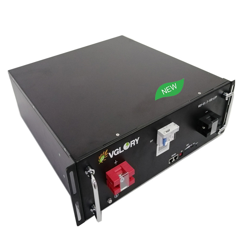 Intelligent BMS rechargeable deep cycle 5kw solar battery lithium 48v for energy storage