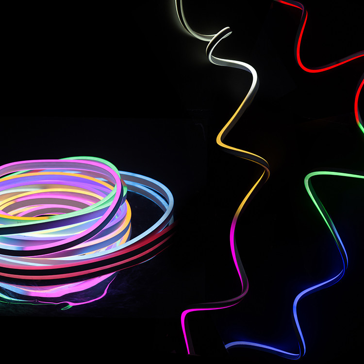 Customization Energy Saving Christmas Indoor Decoration RGB LED Neon Hanging Rope Light