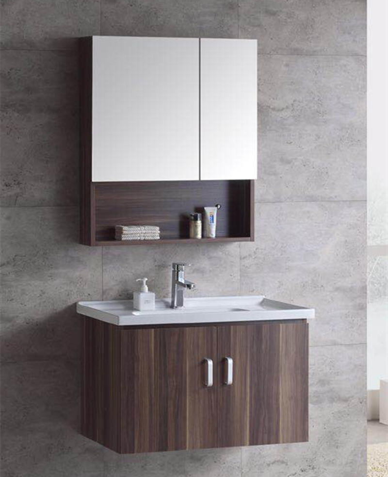 Chaozhou sanitary ware factory new style wall mounted wood bathroom vanity