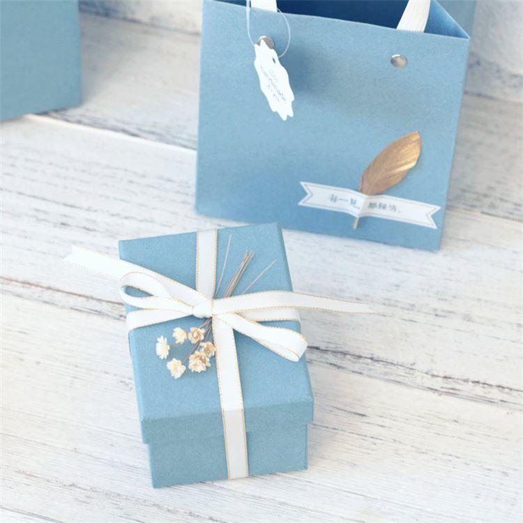 Wholesale Small paper gift boxes Jewelry boxes earrings ring packing boxes birthday gift box for girl