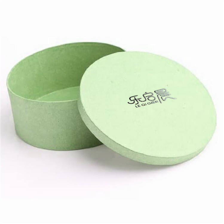 Custom design green round cardboard paper jewelry gift packaging boxes with logo printing