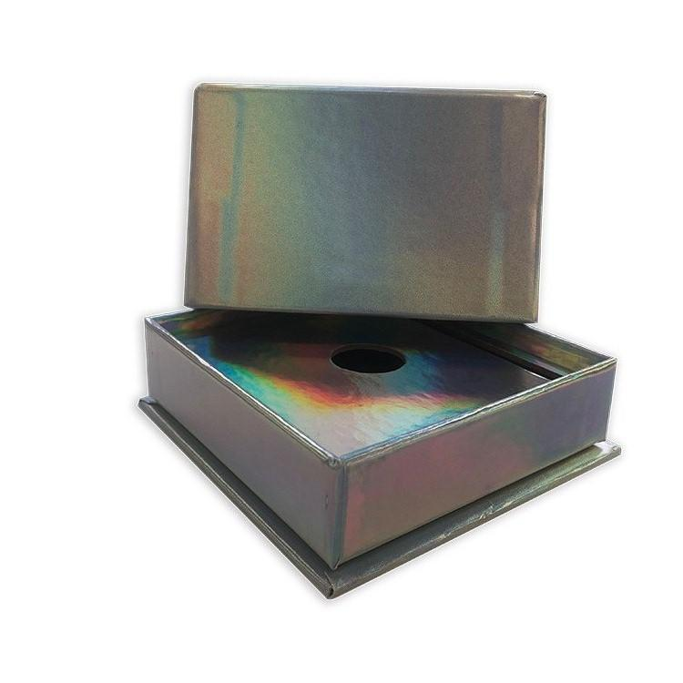 Cool cardboard laser painted special paper packaging box jewelry gift box with insert