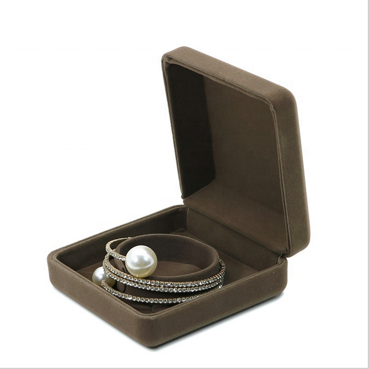 Custom Velvet Luxury Design Jewelry Necklace Wedding Ring Gift Box With Logo