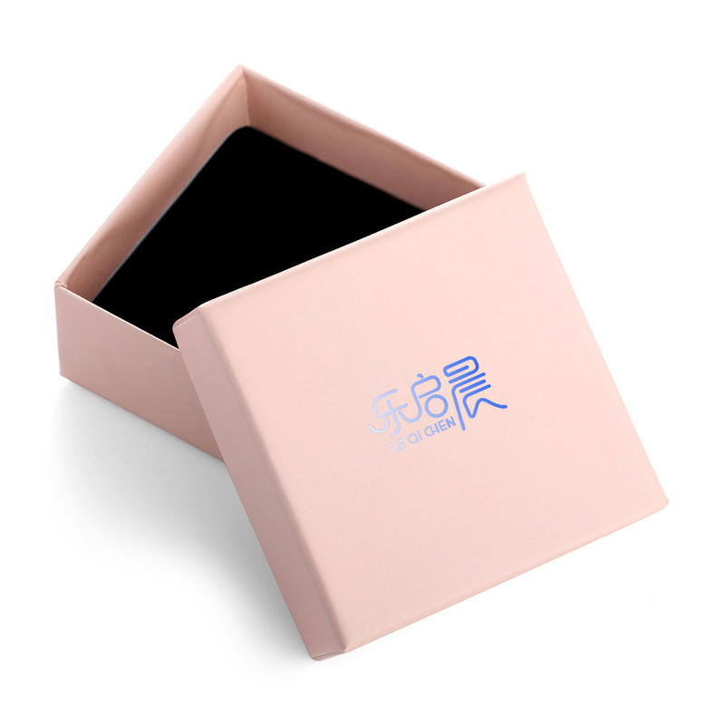 Simple Jewelry Boxes Paper Cardboard Bracelet Boxes with Cotton Filled Gift Boxes with Lids for Women