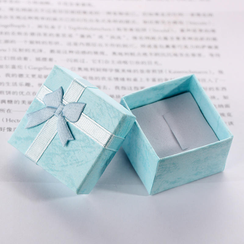 Custom-made jewelry ring box bowknot ribbon pendant necklace box custom gift boxes for bridesmaids proposal