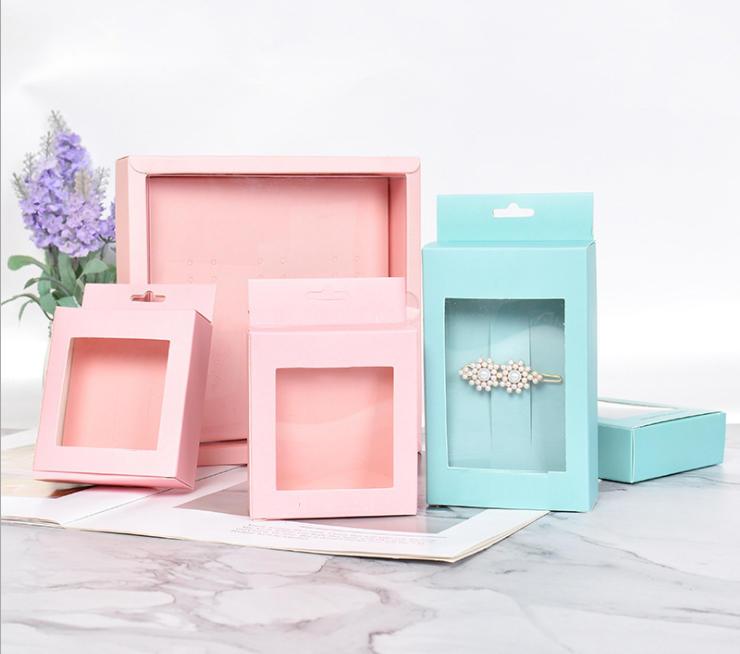 2020 New Kraft paper box, Jewelry Box,Jewel Paper Case With Custom Logo