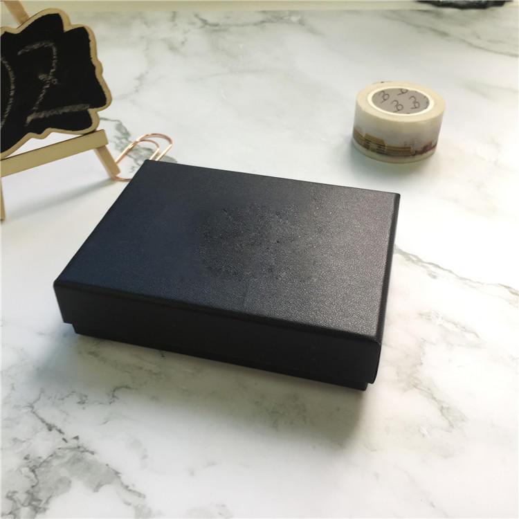 Mini paper watch gift box black cardboard gift box with lid