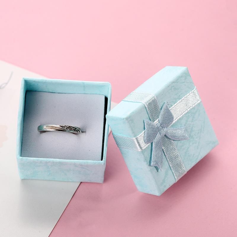product-Dezheng-Custom-made jewelry ring box bowknot ribbon pendant necklace box custom gift boxes f-1
