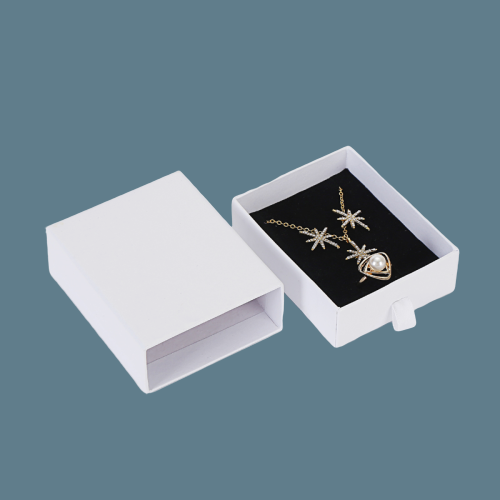 Customized paper white cardboard jewelry set box for earrings