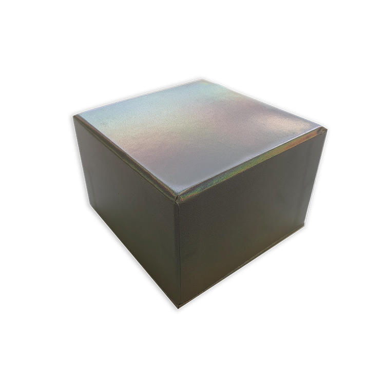 High end luxury square cardboard gift box laser printing sliver paper jewelry box with insert