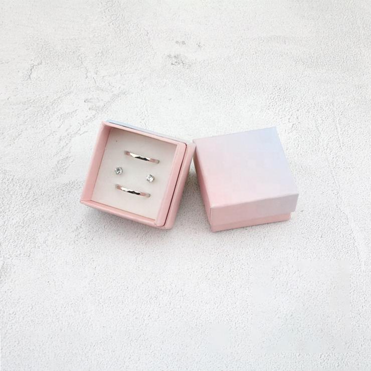 Pink Cardboard Necklaces Pendants Gift Box Luxury Ring Earring Bracelet Packaging Jewelry Box