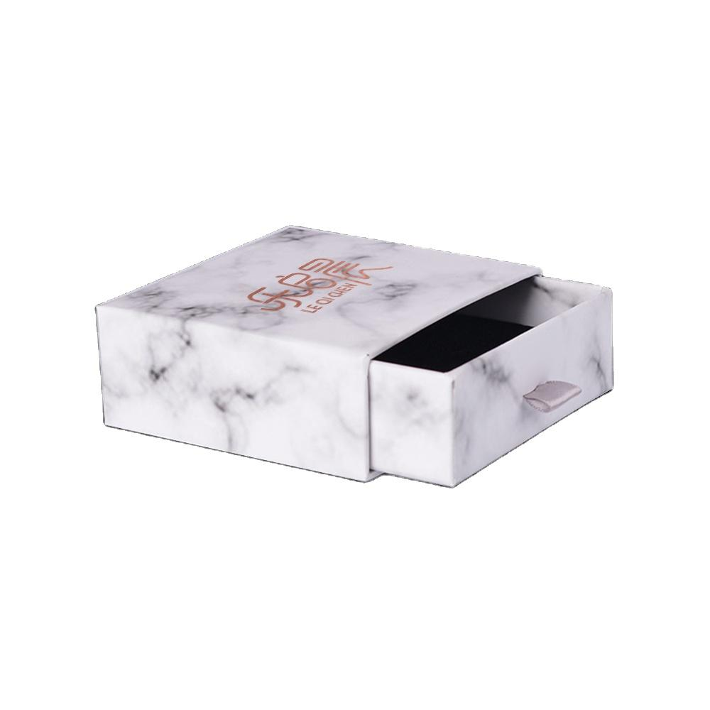 Black PU Leather Color Jewelry Gift and Retail Boxes Jewelry Gift Collectible Packaging Boxes For Women