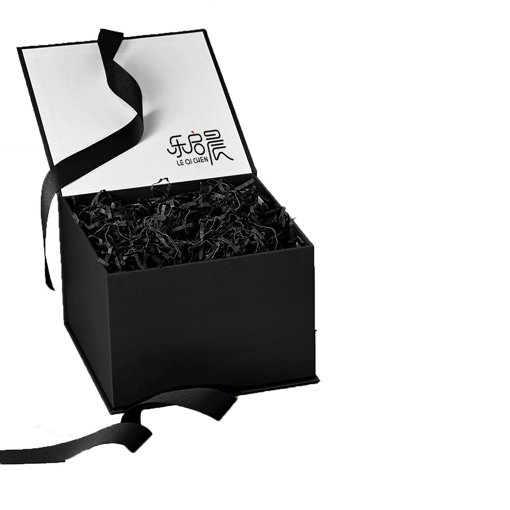 Paper Box For Package, Gift Box With Silk Ribbon,Jewel Paper Case With Custom Logo