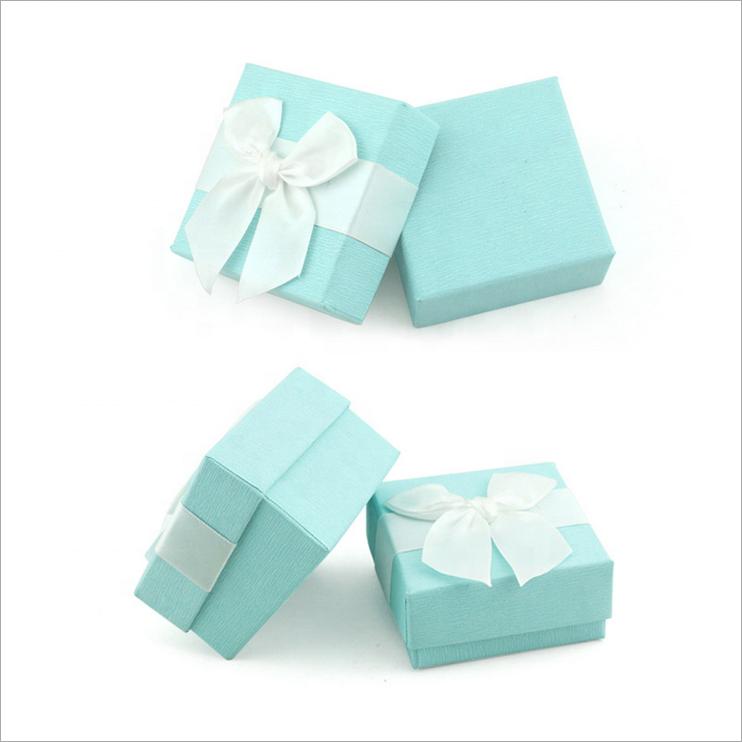 Fancy Custom Printed Foam Insert Cardboard Packaging Square Jewelry Box With Logo