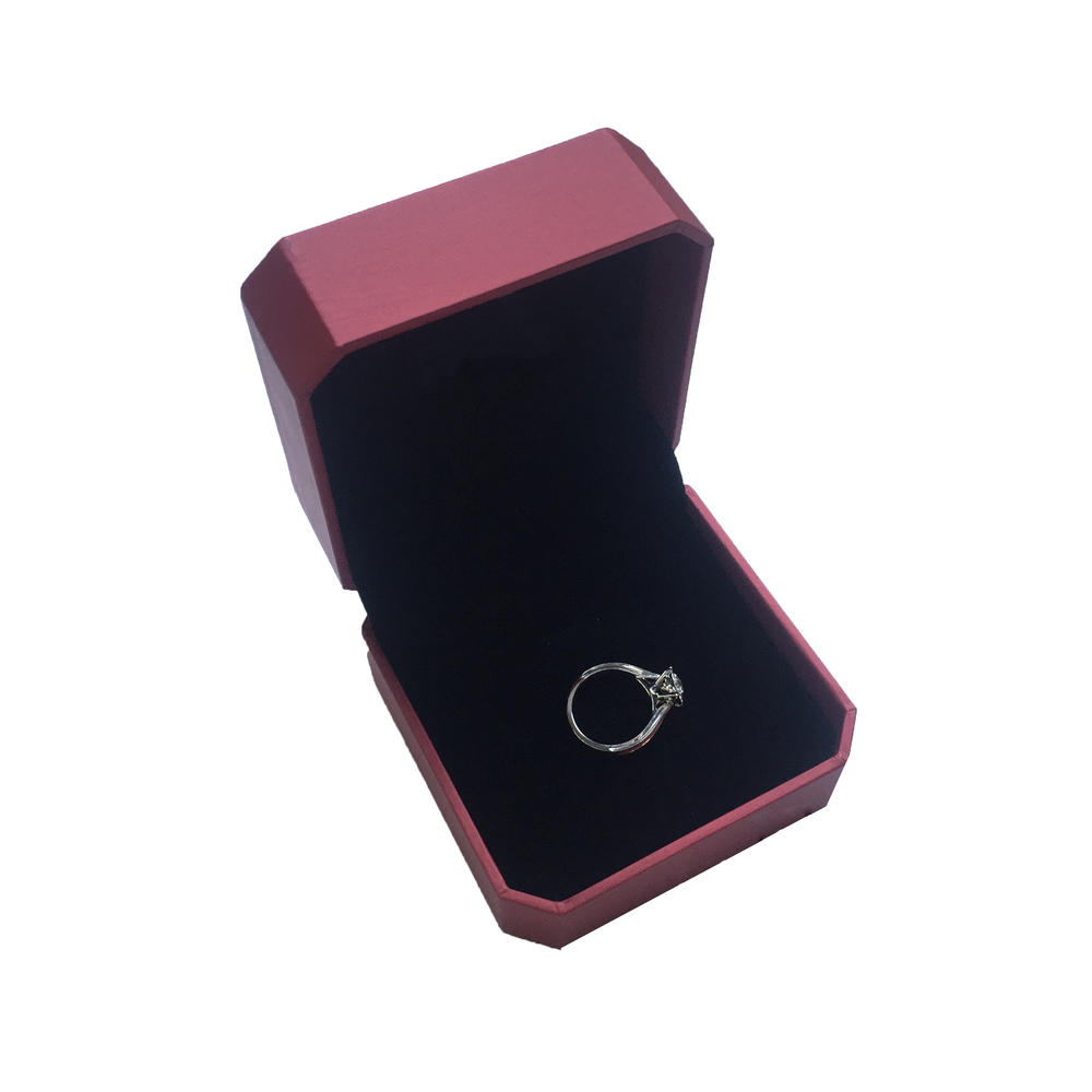 Small size square luxury red ring boxes paper cardboard jewelry packaging box with logo
