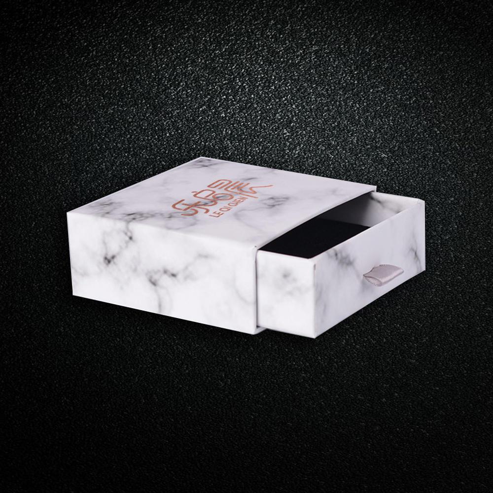 Wholesale Hardcover Marble PU Leather Rose Gold Logo Stamping Jewelry Box Amazon Basics Stand