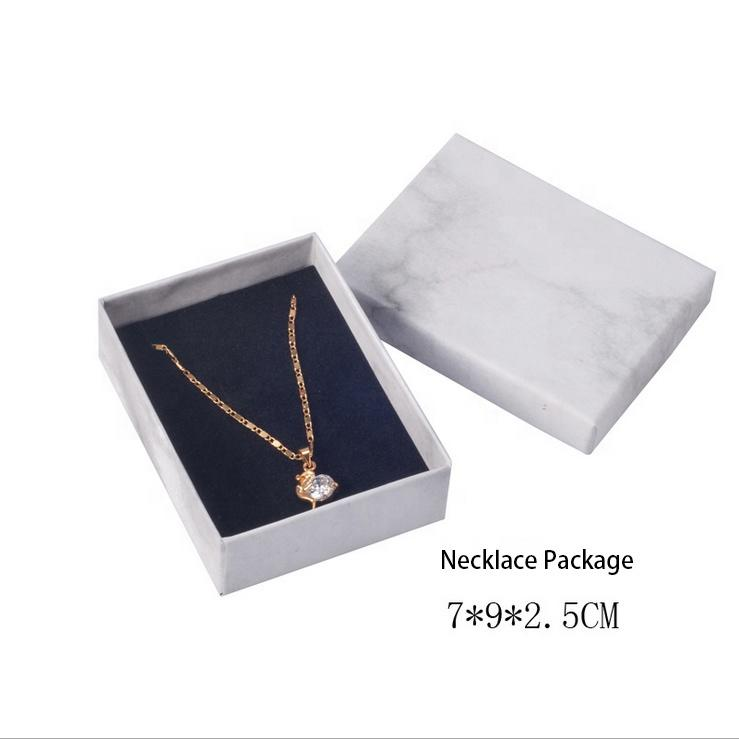 Custom Jewelry Ring Packaging Marble Gift Box for Bracelet Necklace Manufacturers