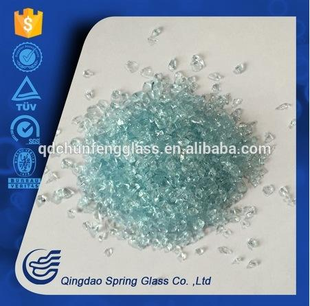 3.0 - 4.0 mm Blue Clear Glass Particles