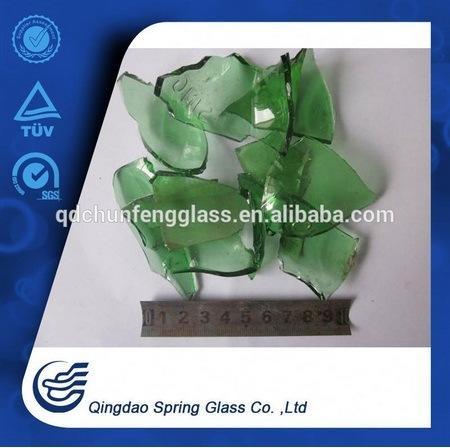 Green Clear Bottle Glass Cullets
