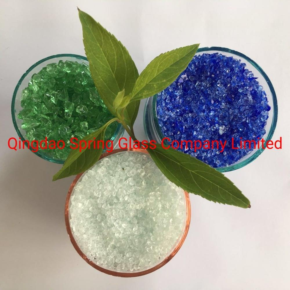 Crushed Clear Glass for Quartz Surfaces Used in Bathroom Vanities
