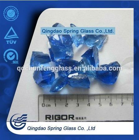 2-3cm Sky Blue Glass Stones