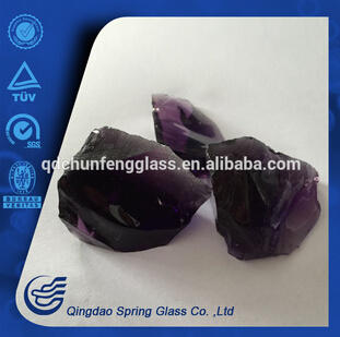 Decorative Purple Clear Glass Crystals