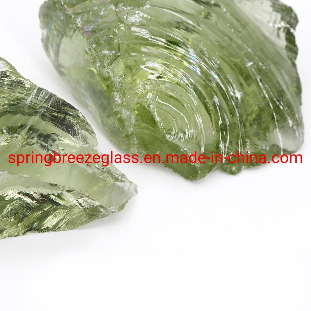 Light Green Glass Rocks in Warehouse for Aquarium and Fish Bowl