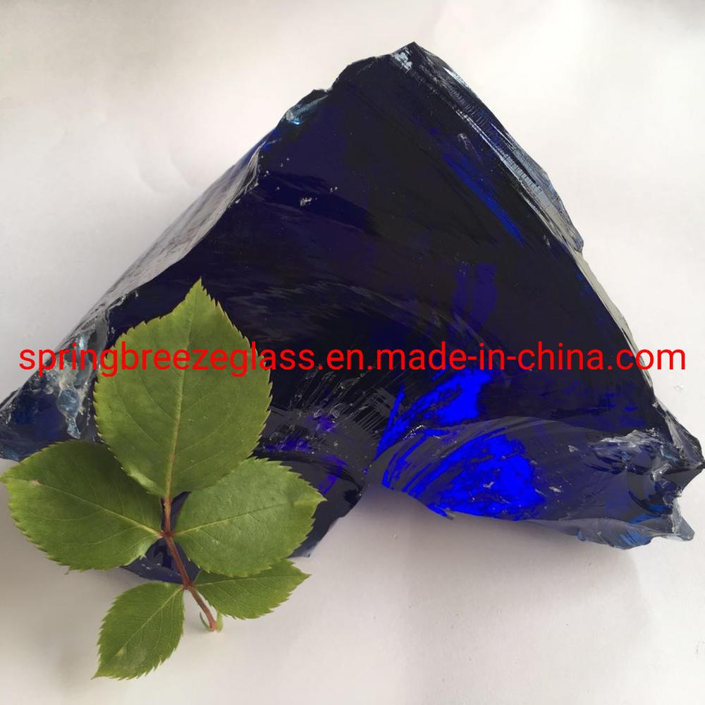 Dark Blue Cobalt Blue Glass Rocks for Home Decoration and Sculpture