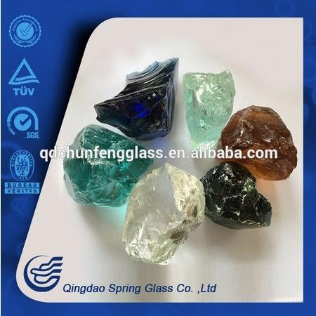 Colored Clear Glass Stones Made in China