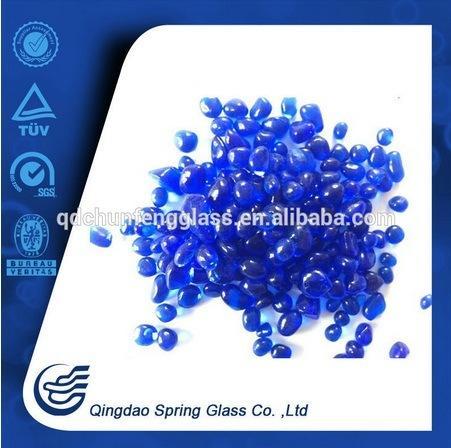 Customize Blue Round Glass Beads