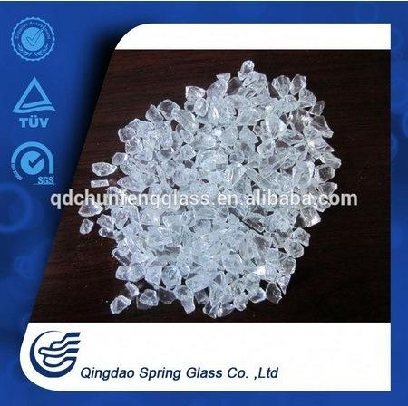 3.0 - 4.0 mm White Clear Crushed Glass Particles
