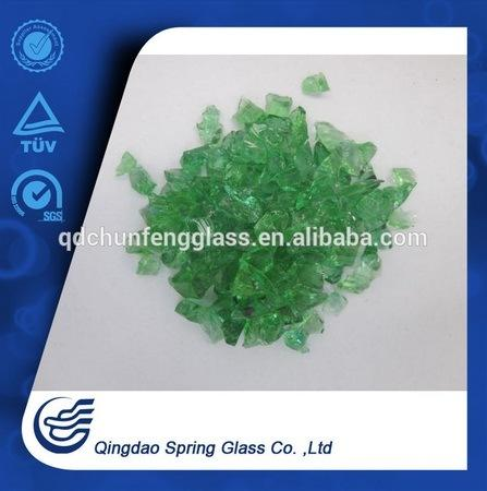 4 mm Green Clear Glass Particles