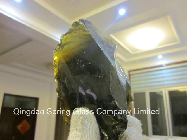 Decorative Dark Brown Clear Glass Rocks