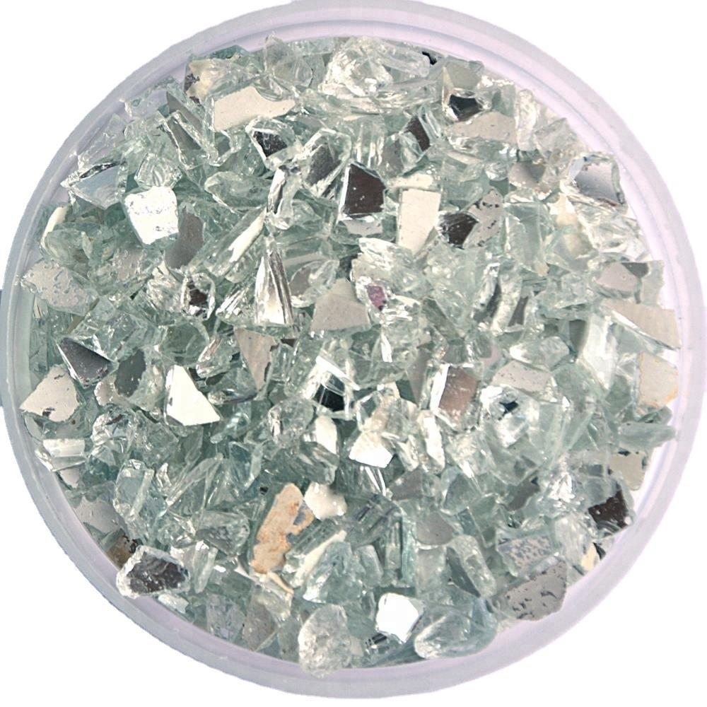 Recycled Crushed Silver Broken Mirror Broken Glass Decor Crystal Crushed Mirror Glass Granule for Terrazzo Floor