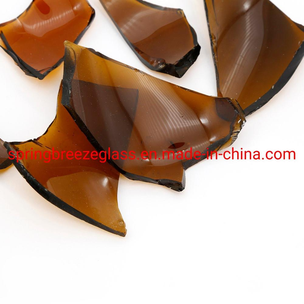 Amber Glass Cullets/ Rocks in Stock