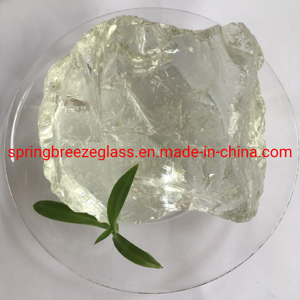White Clear Glass Rock for Square / Garden / River/ Swimming Pool Decoration.