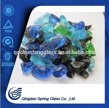 Decorative Colored Clear Glass Rocks