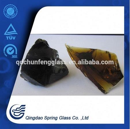 Decorative Dark Amber Clear Glass Rocks