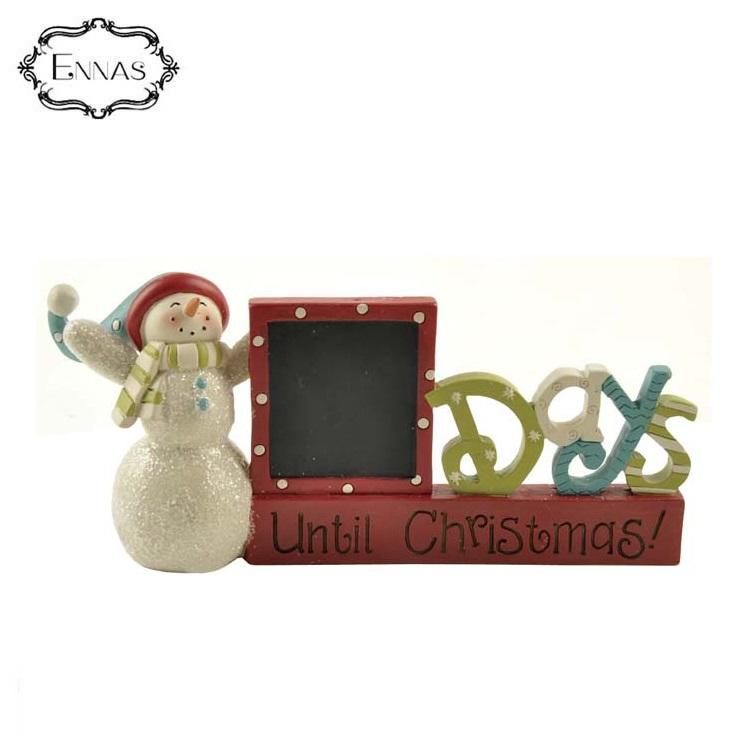 Christmas bedroom decoration figurine ornament word 'day' snowman blackboard