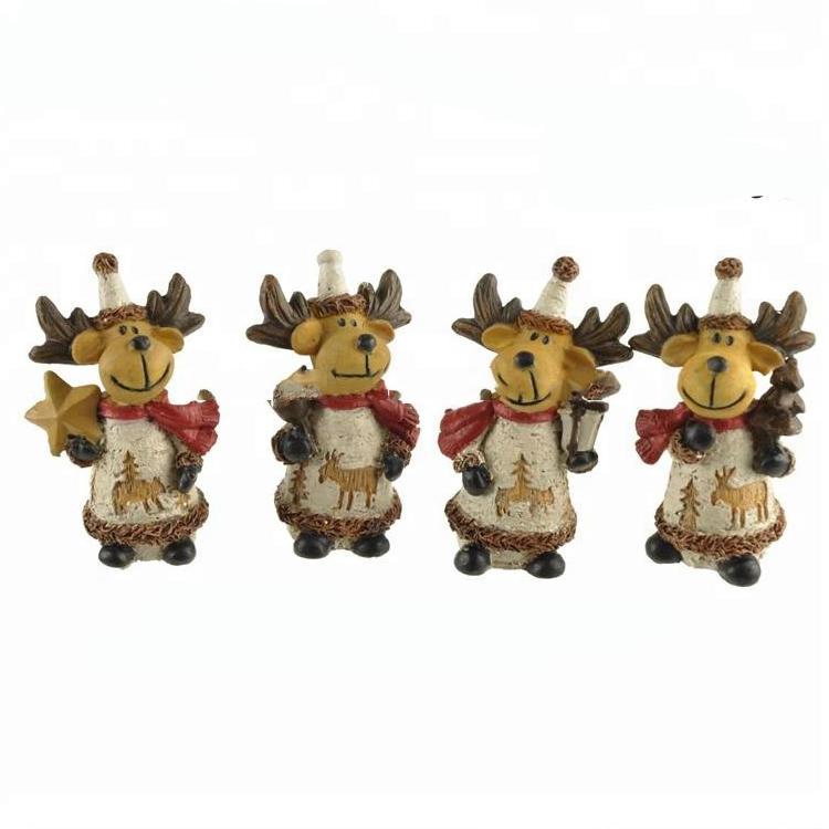 Polyresin Christmas Ornaments Mini resin reindeer figurines