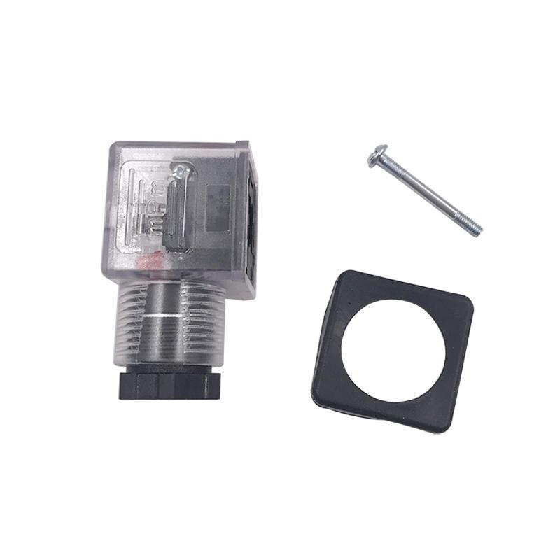 DIN43650A LED Type KVN204 MPM 3 Socket 0200 Solenoid Valve Coil Connector