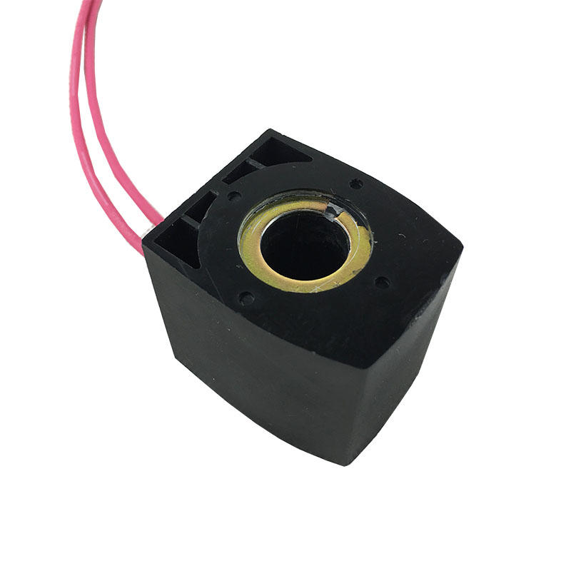 Precision air compressor 12v dc BD-A Lead wire Solenoid Valve Coil Blacksolenoid valve electric coil