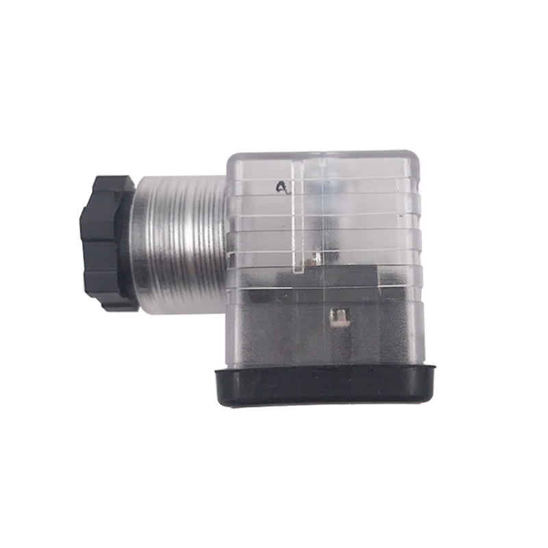 DC AC MPM 3 Socket LED Solenoid Valve Lengthened Type Coil Connector