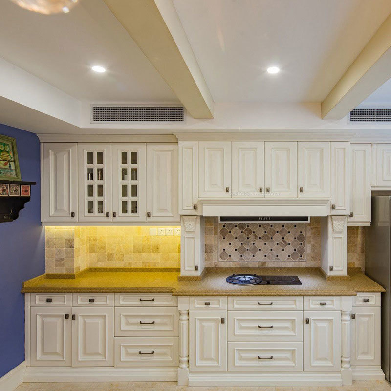 Custom kitchen furniture overall cabinets American solid wood multilayer cabinet whole house custom home overall kitchen cabinet