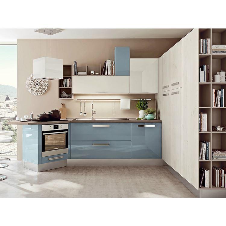 Scratch Resistant Acrylic Laminate Kitchen Cabinet White Set