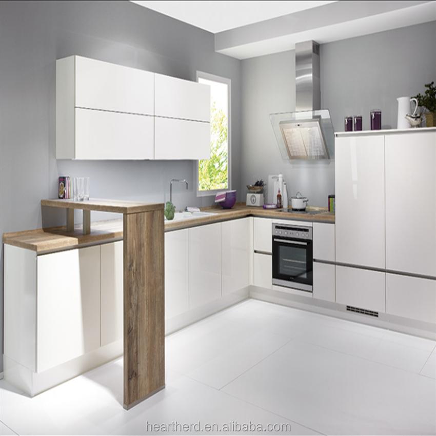High End Acrylic Kitchen Cabinet Door Handless Kitchen Kitchen Storage Holders Kichen Cabinet Sets